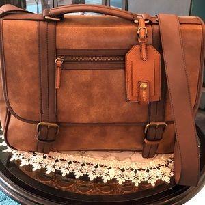 Aldo Laptop Bag with Tag, Brown/Tan (New)